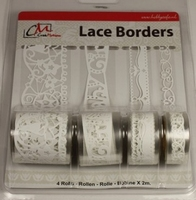 Zelfklevend Lace Borders BL382999 Baby Girl White