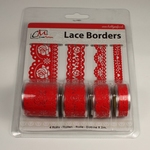 Lace Borders 2599 Rose Red
