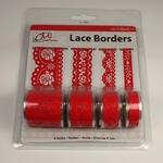Zelfklevend Lace Borders BL382599 Rose Red