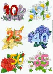 Hobbypost A5 Knipvel Verjaardagen 10-12,5-25-40-50-65