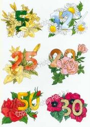 Hobbypost A5 Knipvel Verjaardagen 5-12,5-20-25-30-50