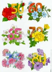 Hobbypost A5 Knipvel Verjaardagen 50-60-65-70-75-80