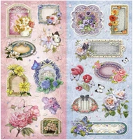 Joy! Sparkling Embossed Stickers 6013/0044 Bloemen/kaders