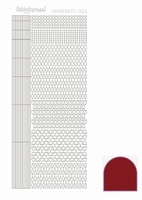 Stickervel Hobbydots Mirror STDM054 red