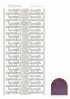 Hobbydots Mirror STDMHG06 Hart. Gefeliciteerd violet