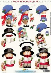 Morehead A4 Kerst Knipvel 009 Meisje met kerstgans