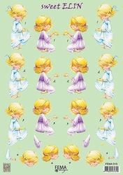 A4 Knipvel Fema Design F015 sweet Elin meisje