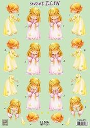 A4 Knipvel Fema Design F014 sweet Elin meisje