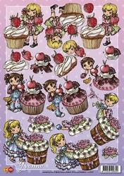 3D Knipvel Yvonne Creations CD10107 Cupcake`s