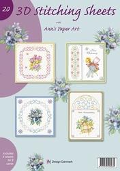 Ann's Paper Art 3D Stitching Sheets 20 bloemen/klokken