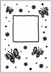 Crafts Too embossing folder CTFD3040 butterfly/vlinder frame