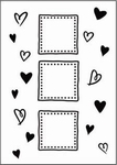 Crafts Too embossing folder CTFD3037 heart frame