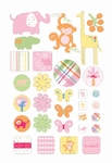 Epoxy stickers BSG-160 Baby safari girl