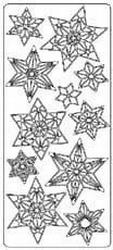 Kerststicker TH 1707 Sterren Grootformaat