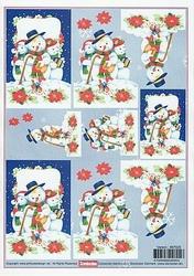 A4 Kerstknipvel Stenboden 467020 Sneeuwmannen
