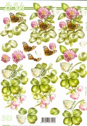 A4 Knipvel Le Suh 8215384 Klaver met vlinder
