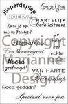MD Clear stamps CS0844 felicitatie