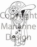 MD clear stamps Hetty's Snoesjes HM9427 moeders jurk