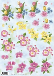 3D Knipvel Anne Design VBK 2583 bloemen tulpen ea