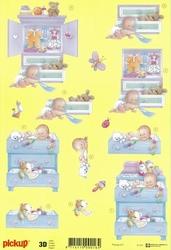 3D Knipvel Pick UP Pu017 Geboorte/Baby met comode