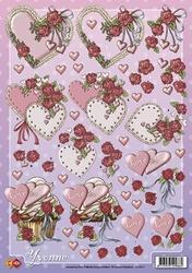 3D Knipvel Yvonne Creations CD10117 Valentijn