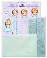 LeCrea Mylo & Friends Communie kit 3D 51.6448 lila/blauw