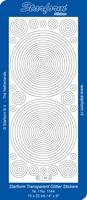Stickervel Starform Transparant Glitter 1441 Cirkels