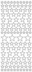 Kerststickervel Jeje Glitter 17520 Sterren