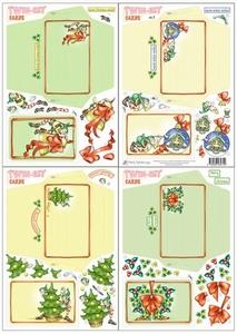 Marij Rahder Twin-set cards nr 5 kerstkaarten & enveloppe