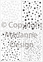 MD Clear stamps CS0845 Decoration stars and dots