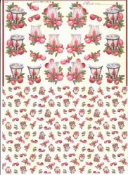 Mireille A4 Knipvel Duo X256 Windlicht rood