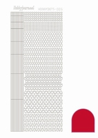 Stickervel Hobbydots Adhesive STDA054 red