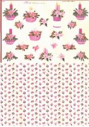 Mireille A4 Knipvel Duo X261 Kaars roze