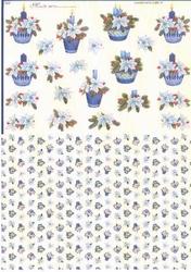 Mireille A4 Knipvel Duo X262 Kaars blauw