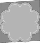 Romak 4-kant kaart 327 Bloem 21 wit