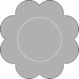 Romak Oplegkaart 331 kleine bloem 28 lichtblauw