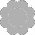Romak Oplegkaart 331 kleine bloem 27 zwart