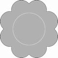 Romak Oplegkaart 331 kleine bloem 24 groen