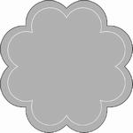 Romak Oplegkaart 330 grote bloem 21 wit