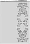 Romak Stanskaart 266 Decoratief Lelie 25 donkerblauw