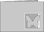 Passe-Partout Romak A6 Liggend Vlinder 65 mint