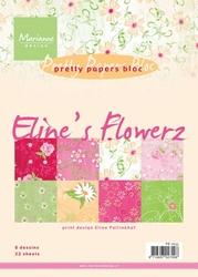 MD Pretty Paper Bloc PB7032 Eline's Flowerz