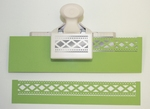 Martha Stewart 29 Deep Double Edge punch diamond fence trim