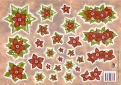 A4 Kerstknipvel Nel van Veen 2288 Kerstroos