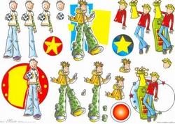 A4 Knipvel Mireille1013 Cartoon/jeugd boys