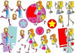 A4 Knipvel Mireille1014 Cartoon/jeugd girls