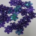 Bloemen pailletten PK008 purple