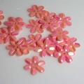 Bloemen pailletten PK001 roze