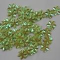 Bloemen pailletten PK003 limegroen