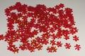 Bloemen pailletten PK005 red